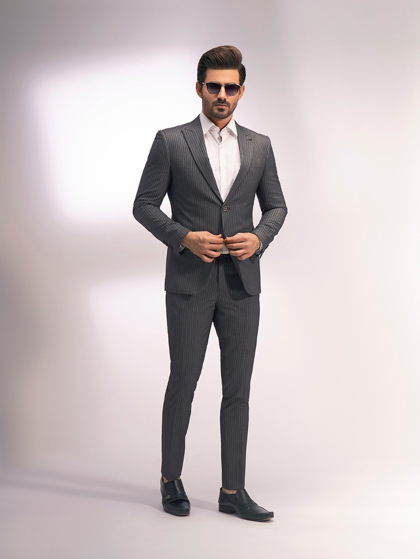 EMTSB19-8133 - 2 Piece Suit - Dark Grey