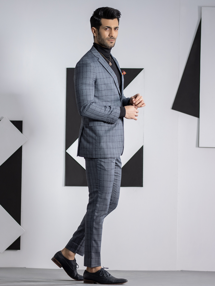 EMTSB19-8112 - 2 Piece Suit - Grey