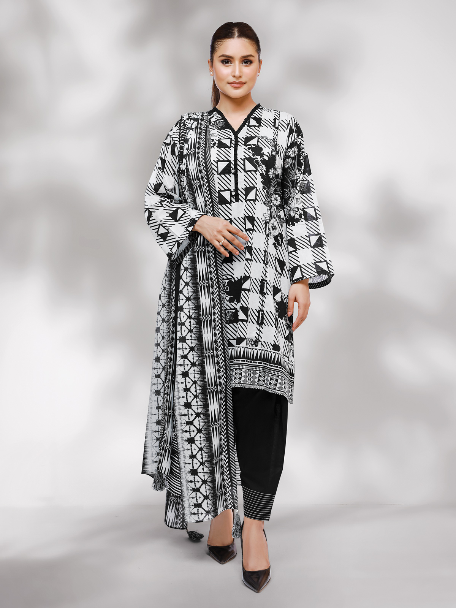 EWU21M4-21001 - Black & White - 3 Piece
