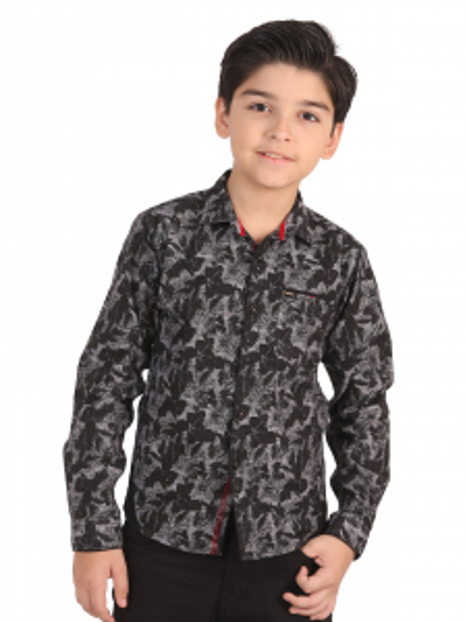 EBTS19-27260 - Casual Shirt - Grey & Black