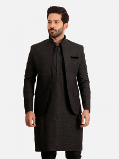 EMTCS20-9875 - Coat Suit - Black